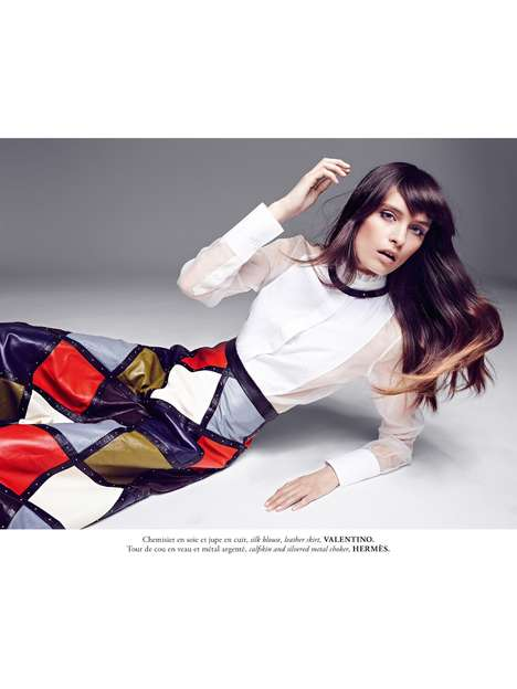Mod Businesswoman Editorials - Model Beth Edwards Poses for the Latest Issue of Madame Air France