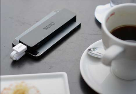 Adhesive Smartphone External Batteries - The Power Annex by Kegan & Roberto is Slim and Sticky