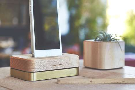 Limited Edition Docks - Groovemade Has Crafted a Beautiful Wood and Brass Smartphone Accessory