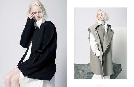 Avant-Garde Elegance Editorials - The Ones 2 Watch Proportion Exclusive Boasts Conceptual Attire