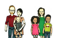 Personalized Paper Dolls - Etsy User Jordan Grace Owens Creates Customized Portrait Illustrations