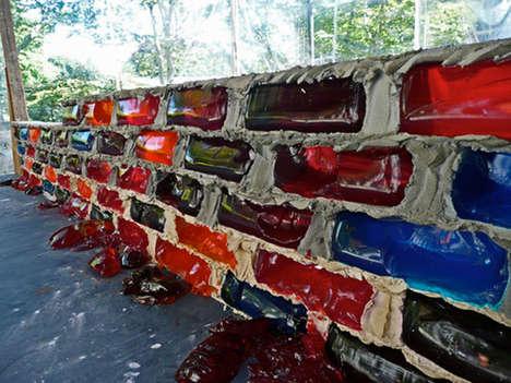 Gelatin Brick Walls - Lisa Hein & Robert Seng Built a Life-Size JELLO Wall