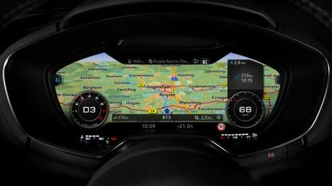 Virtual Car Displays - The Third-Generation Audi TT Cockpit Will Be a Virtual Cockpit