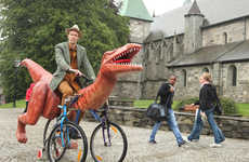 Prehistoric Dinosaur Bikes - Markus Moestue Created This Dino Bicycle Design to Travel Around Norway