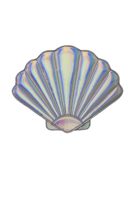 Iridescent Oyster Accessories - Akira's Sea Shell Clutch Celebrates Aquatic-Themed Styles