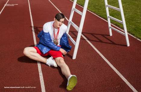 Edgy Olympian Editorials - Male Model Scene's Winners/Losers Exclusive is Athletic-Themed