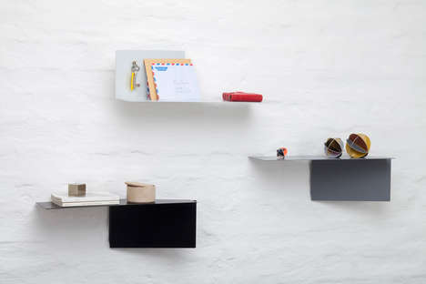 Chic Adaptable Shelves - Plateau by Felix Klingmuller Can Be Rotated into a Number of Positions