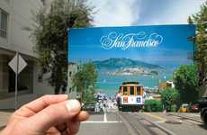 Cheesy Postcard Photography - Michael Raziano Blends Postcards into San Francisco Locations
