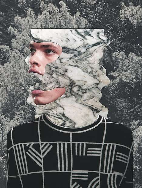Conceptually Fragmented Collages - Jesse Draxler's Captivating Imagery Layers Opposing Compositions