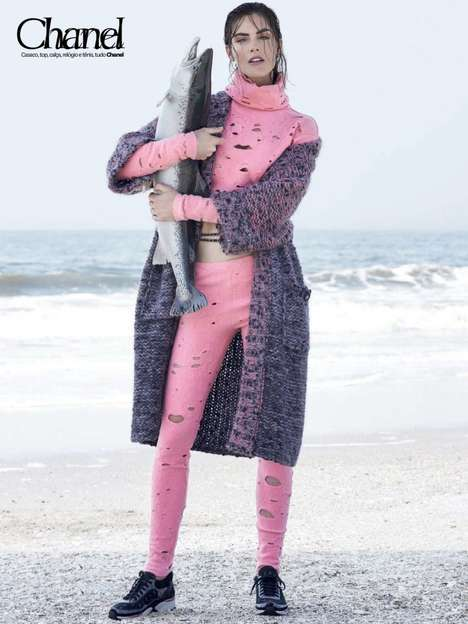 Urban Fisher Fashion - The Latest Vogue Brazil Issue Stars Model Hilary Rhoda