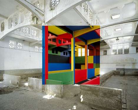 Geometrical Illusion Photography (UPDATE) - Georges Rousse Plays with Perceptions through Paintings