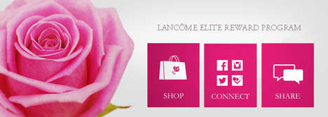 Social Media Makeup Rewards - The Lancôme Elite Rewards Service Gives Consumers Luxury Discounts