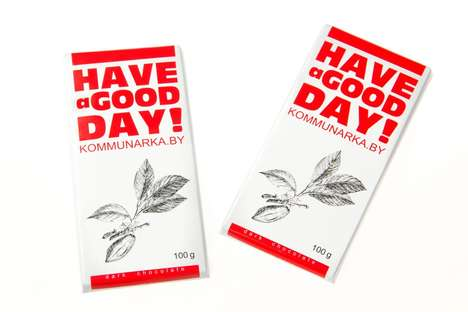 Cheery Chocolate Packaging - Kommunarka's Chocolate Bar Wrapping is Designed to Brighten Days