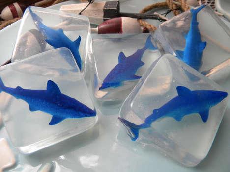 Ocean Predator Soaps - Etsy's Oooh-La-La The Soap Bar Shop Features Handmade Shark Soaps