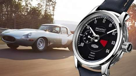 Bespoke Auto-Inspired Watches - This Jaguar Watch Commemorates the Lightweight E-Type Car