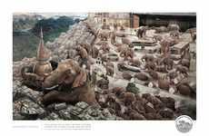 Ensnaring Elephant Ads - Save the Asian Elephants' Ad Shows the Vicious Cycle of Elephant Tourism