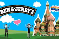 Activist Ice Cream Campaigns - Ben & Jerry's Campaign for Change Addresses Gay Rights in Russia