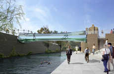 All-Glass Bridges - Thomas Heatherwick Proposes a Fragile Bridge for London