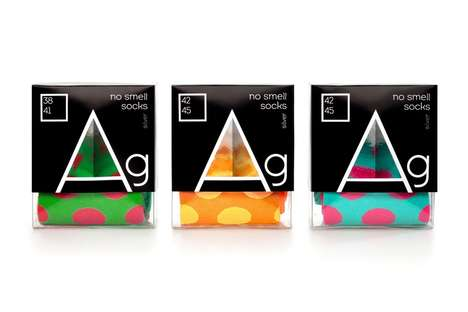 Scientific Sock Packaging - Argentum's Sock Box Packaging Includes Elements from the Periodic Table
