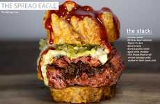 Patriotic Ingredient Burgers - The Spread Eagle Burger is Made from Traditional American Food Items