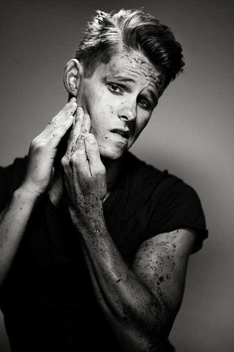 Mud-Splattered Model Closeups - Sergio Garcia's Dirt Editorial Highlights Gritty Imagery