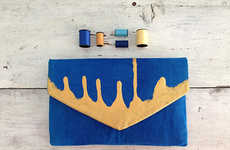 Gold-Dipped Statement Accessories - Etsy's My A La Mode Boutique Creates Custom Printed Clutches