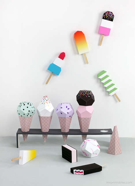 Paper Ice Cream Playsets - Mr. Printables' No-Mess Paper Popsicle & Ice Cream Toys Won't Melt