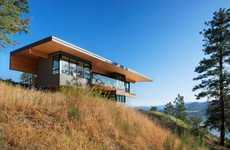 Sloping Lakeside Homes