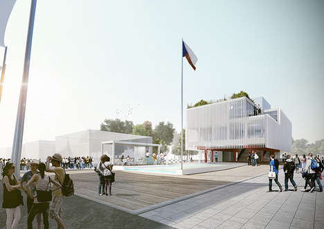 Rectangular Module Pavilions - The Czech Republic Pavilion is Under Construction in Milan