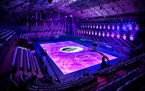 LED Basketball Courts - NIKE and ALQA Build the House of Mamba Court