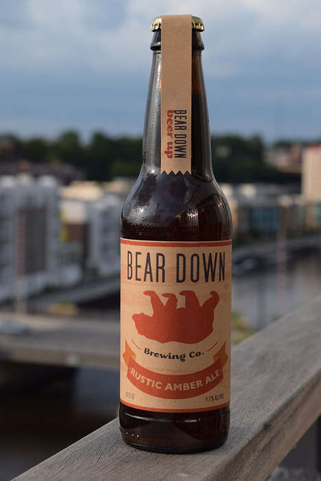 Animal-Inspired Beer Branding - Bear Down Brewing Puts Forward a Rustic Look