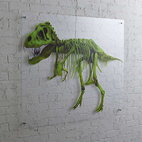 Pre-Historic Dino Decor - CB2's Rex Acrylic Print is Sold as Part of Their Edition LMTD Range