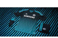 Electrifying Soccer Apparel - The New Chelsea Third Kit Features a Sound Wave-Inspired Graphic