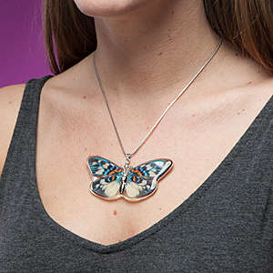 Authentic Butterfly Jewelry - These Butterfly Necklaces Accurately Depict the Colorful Insect