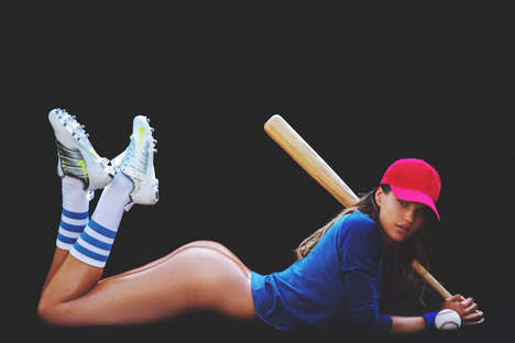 Seductive Sportswear Editorials - Model Rachel Mortensen Strips Down for Galore Magazine