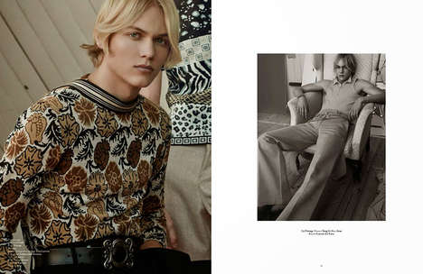 Eccentric Nostalgia Editorials - Out of Order Magazine's Spring Sonata Feature is 70s Inspired