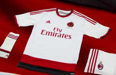 Minimalist Soccer Apparel - The New AC Milan Away Jersey Blends Elegance and High Performance
