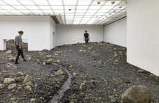 Rocky Museum Installations - The Riverbed Installation Brings the Great Outdoors Inside