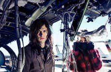 Apocalyptic Luxury Campaigns - DRYKORN's Latest Advertorial is Lensed in an Abandoned Plane