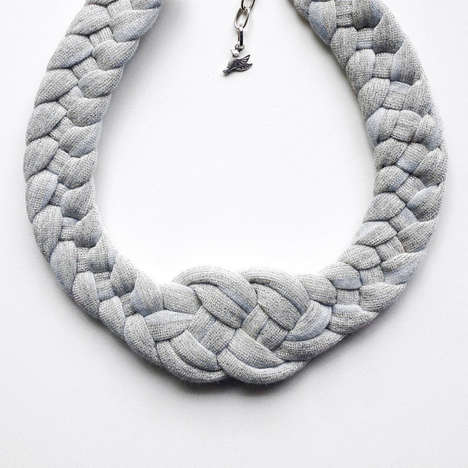Handwoven Knot Necklaces - Etsy's Birdie Numnum Shop Features Knitted Jewelry Pieces