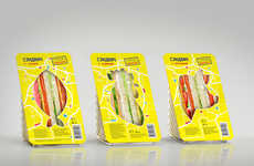 Revealing Sandwich Packaging - This Sandwich Container Has Cutouts to Show the Meat Inside
