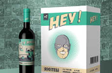 Superhero-Inspired Wines - Hey Malbec's Comic Book Wine Saves Wine Lovers from Boring Packaging