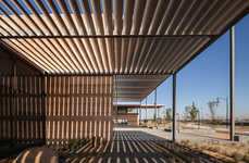 Louvered Library Architecture - FJMT Distinguishes Craigieburn Library with a Louvered Appearance