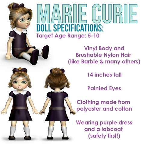 Inspiring Educational Dolls - The Miss Possible Doll Toys for Girls Feature Enpowering Role Models