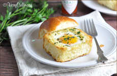 Herb-Infused Breakfast Buns - Very Culinary's Toasted Brioche Egg Cups are Protein-Enriched