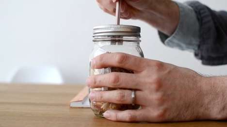 Mason Jar Sharpeners - This Nifty Pencil Sharpener Design is Made Using an Upcycled Glass Jar
