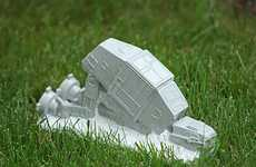 Dark Side Garden Decor - The AT-AT Lawn Ornament Let's You Battle the Empire While You Cut the Grass