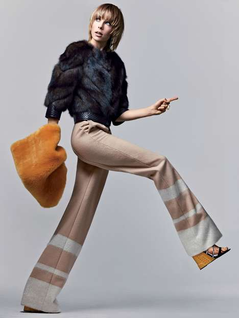 Retro Tomboy Editorials - Model Edie Campbell Poses for the Newest Issue of Vogue Magazine