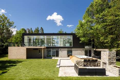 Modest Riverside Abodes - Christopher Simmonds Architect Designed a Contemporary House in Canada
