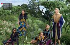 Stoic Supermodel Photoshoots - The Vogue US Playing It Cool Editorial Showcases Resigned Faces